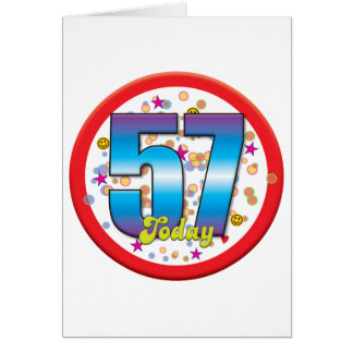 57th Birthday Today v2 Card
