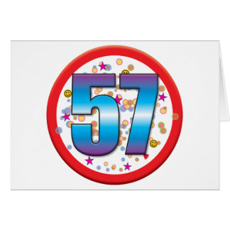 57th Birthday v2 Card