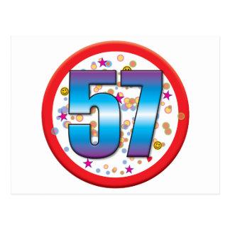 57th Birthday v2 Postcards