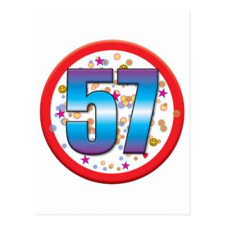 57th Birthday v2 Postcard