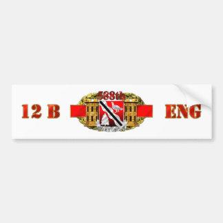 588th Engineer Battalion Car Bumper Sticker