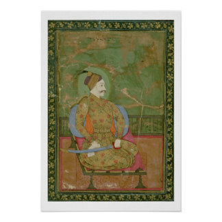 58.20/25A Portrait of Sultan Abdullah Qutb Shah se Poster