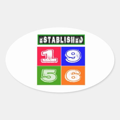 58 Birthday Designs Oval Sticker