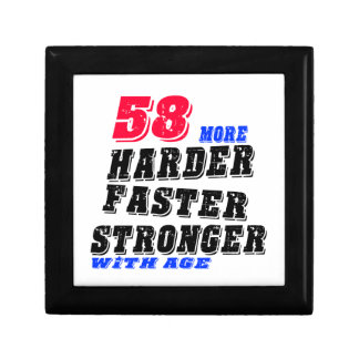 58 More Harder Faster Stronger With Age Gift Box