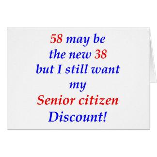 58 Senior Citizen Card