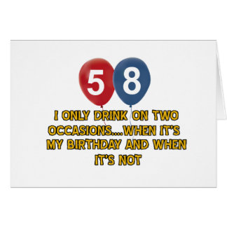 58 year old birthday designs card