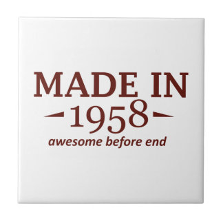 58 years Old birthday designs Ceramic Tile