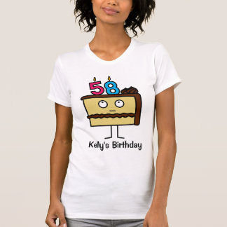 58th Birthday Cake with Candles T-Shirt
