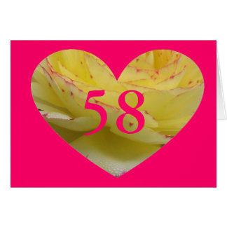 58th Birthday Card