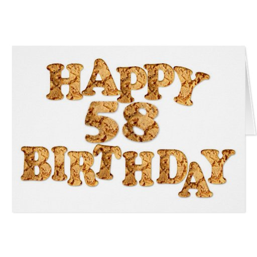 58th Birthday card for a cookie lover