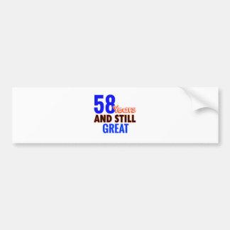 58th birthday design bumper sticker