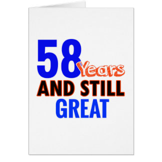 58th birthday design card