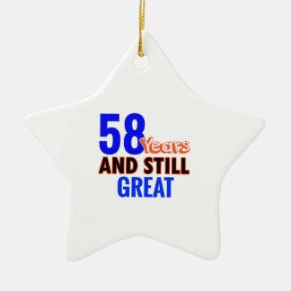 58th birthday design ceramic ornament