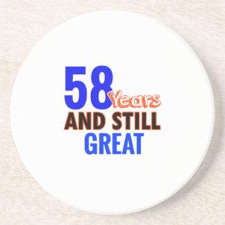58th birthday design coaster