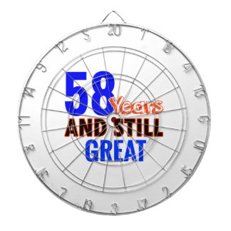 58th birthday design dartboard