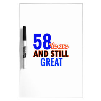 58th birthday design dry erase board