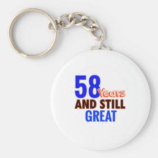 58th birthday design key ring