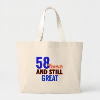 58th birthday design large tote bag