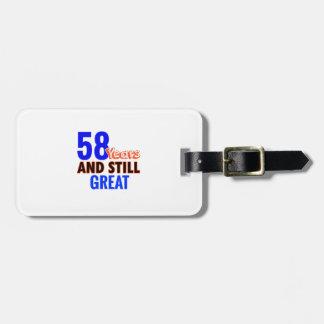 58th birthday design luggage tag