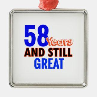 58th birthday design metal ornament