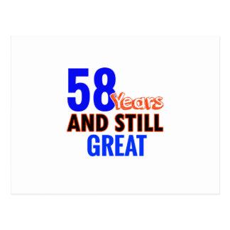58th birthday design postcard