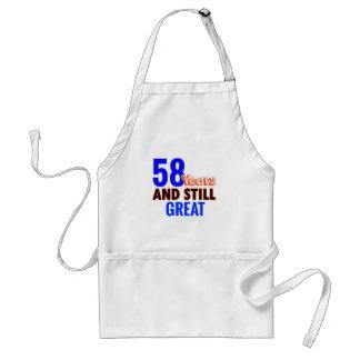 58th birthday design standard apron