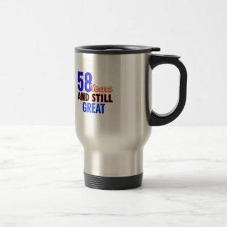 58th birthday design travel mug