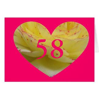 58th Birthday Greeting Card