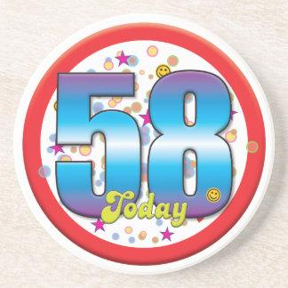 58th Birthday Today v2 Coasters