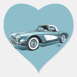 59 Corvette Heart Sticker