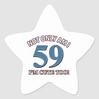 59 years Old birthday designs Star Sticker