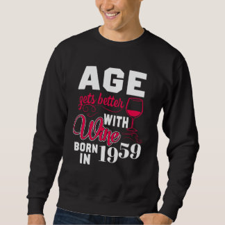 59th Birthday T-Shirt For Wine Lover.