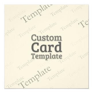 5.25 x 5.25 Felt Cream Invitation Custom Template