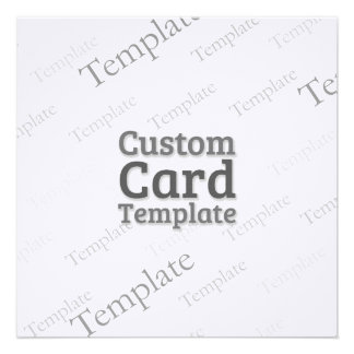 5.25 x 5.25 Linen White Invitation Custom Template
