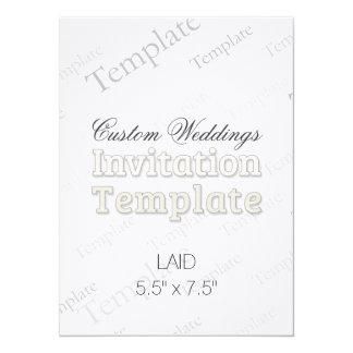 "5.5""x7.5"" Laid Custom Wedding Invitation Square"