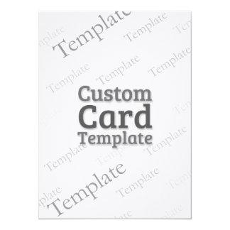 """5.5 x 7.5"""" Laid Ivory Invitation Custom Template"""