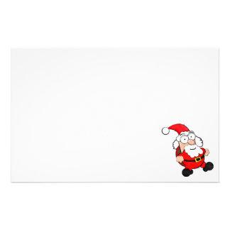 "5.5"" x 8.5"" Cute Santa Stationery"