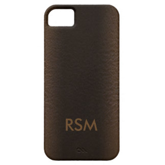 5/5s faux leather-look monogram iPhone 5 case