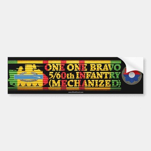 5/60th Inf. Mech. One One Bravo Bumper Sticker