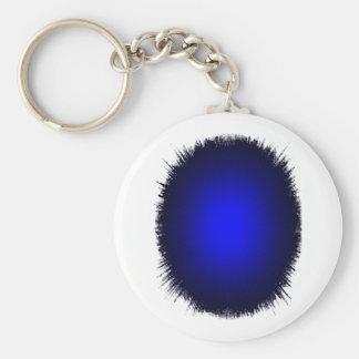 5.7cm Basic Button Keychain blue flash white back