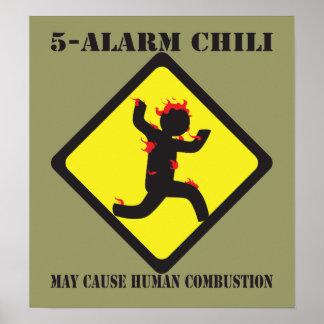 5 Alarm Chili Poster