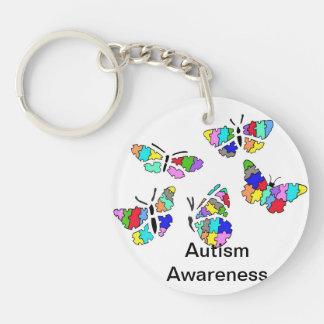 5 Autism Awareness Butterflies Key Chain