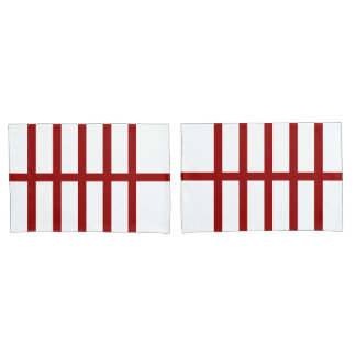 5 Bisected Red Lines Pillowcase
