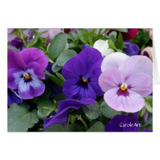 5 Blue Purple Lavender Pansies Note Card