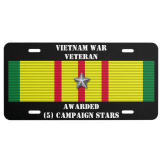 5 CAMPAIGN STARS VIETNAM WAR VETERAN