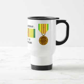 5 CAMPAIGN STARS VIETNAM WAR VETERAN COFFEE MUGS