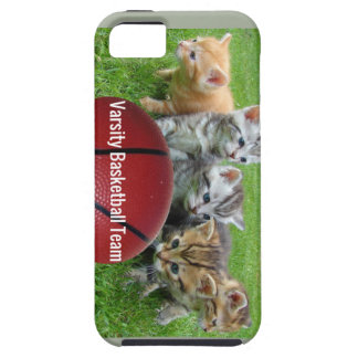 5 Cats Form a Basketball Team Tough iPhone 5 Case