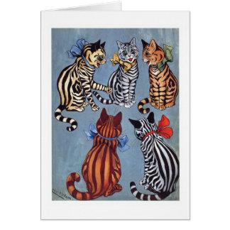 5 Charming Cats Louis Wain Card
