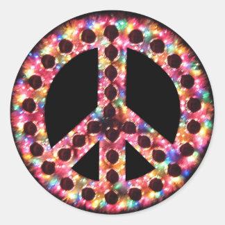 5-color peace sticker