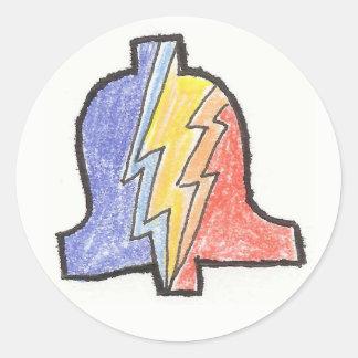 5 Colour Hand Drawn PLA Logo Sticker
